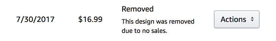 Merch by Amazon - Hinweis im Backend Removed