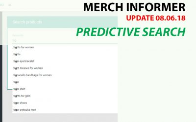 Merch Informer: Update Predictive Search