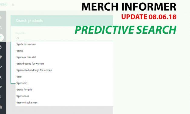Merch Informer: Update Predictive Search