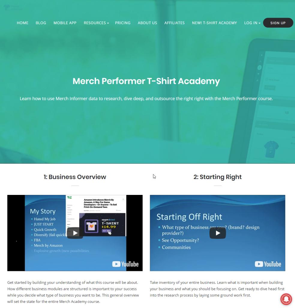 Merch Informer T-Shirt Academy - Fünf Videos