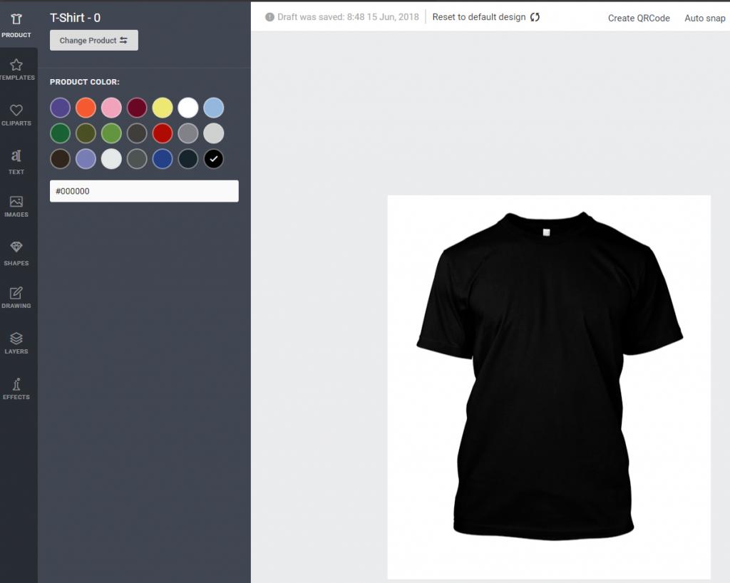 Merch Informer Prioducts Designer Designoberfläche