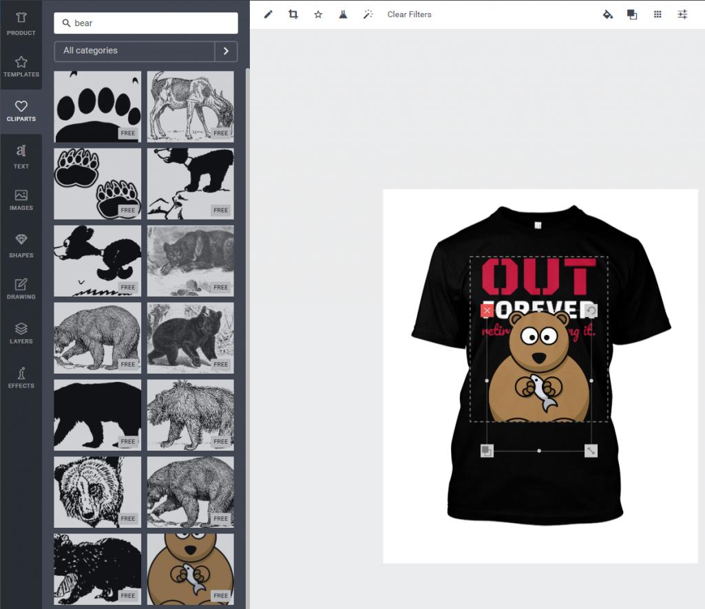 Merch Informer Products Designer: Cliparts