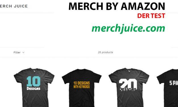 Merch by Amazon Design-Service: merchjuice.com – Der Test