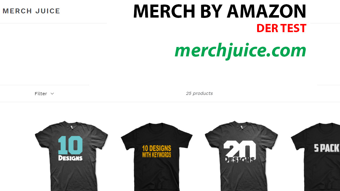 Merch by Amazon Design-Service: merchjuice.com – Der Test