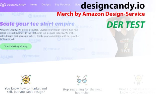 Merch by Amazon Design-Service: designcandy.io – Der Test
