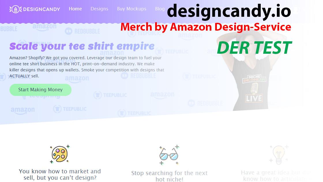 Merch by Amazon Design-Service: designcandy.io – Der Test