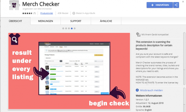 Merch by Amazon-Tool: Merch Checker – Der Test