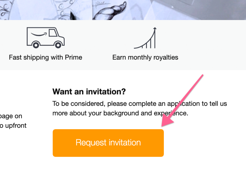 Bewerbungs-Button bei Merch by Amazon